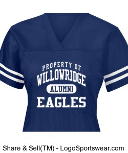 Ladies 2009 Alumni Jersey Design Zoom